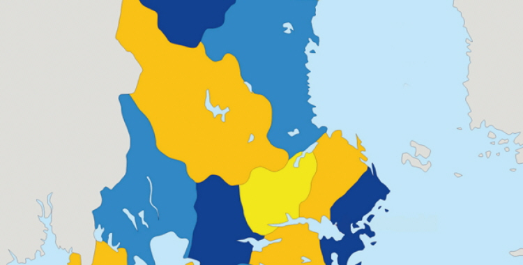 very big size sweden political map with flag